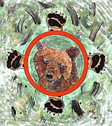 Medicine Bear Posters - Bear Medicine Shield Poster by Kendra Hunter