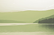 Greens Framed Prints Metal Prints - Beautiful British Columbia Artographic Metal Print by Jayne Logan