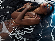 Three-quarter Length Prints - Beautiful Woman Lying in Water Print by Oleksiy Maksymenko