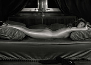 Long Bed Prints - Beautiful Woman Sleeping Naked Print by Oleksiy Maksymenko