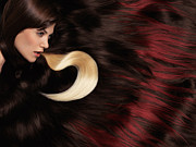 Flowing Hair Posters - Beautiful Woman with Hair Extensions Poster by Oleksiy Maksymenko