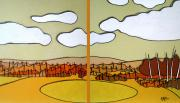 Abstract Landscape Art - Beautiful Yellow Day by Jason Allen