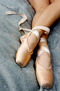 Dance Shoes Posters - Beauty is the Pointe Poster by Kim Fearheiley