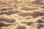 Sunsets Rainbows Clouds - Bed Of Puffy Clouds by Carl Shaneff - Printscapes