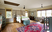Wood Floors Prints - Bedroom Print by Andersen Ross