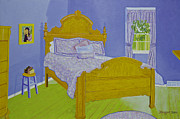 Van Gogh Painting Originals - Bedroom at Elkhorn by Christine Belt