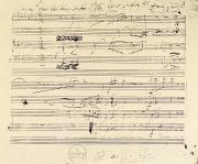 Major Prints - Beethoven Manuscript, 1826 Print by Granger