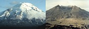 Natural Disasters Art - Before And After The Eruption Of Mount by Everett