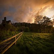 Shire Prints - Behind The Fence Print by Angel  Tarantella