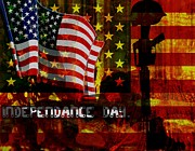 American Independance Metal Prints - Behind the Scenes Metal Print by Fania Simon