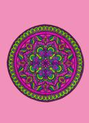 Mandala Drawings - Bejeweled by Anna Maria Caldara