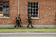 Foot Patrol Photos - Belgian Soldiers On Patrol by Luc De Jaeger