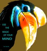 Poster From Digital Art Metal Prints - Believe Toucan Metal Print by Debra     Vatalaro
