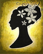 Updo Painting Posters - Bella Dama Poster by Brandy Nicole Clark