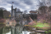 Spring Time Art - Belvedere Castle  by Ariane Moshayedi