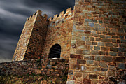 Rustic Metal Prints - Belver Castle Metal Print by Carlos Caetano
