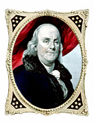 American Revolution Digital Art Framed Prints - Ben Franklin Framed Print by War Is Hell Store