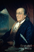 Peale Photo Posters - Benjamin Franklin, American Polymath Poster by Photo Researchers