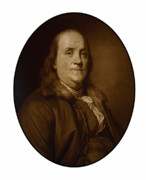 Founding Fathers Metal Prints - Benjamin Franklin Metal Print by War Is Hell Store