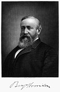 Autograph Framed Prints - Benjamin Harrison Framed Print by Granger