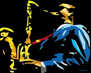 Saxophonists Framed Prints - Benny Golson Framed Print by Walter Neal