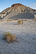 Bad Lands Prints - Bentonite Butte Print by Utah Images
