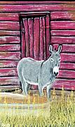 Donkey Pastels Prints - Bernie Print by Jan Amiss