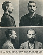 Mug Shots Posters - Bertillon System Photographs Taken Poster by Everett