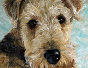 Terrier Art Painting Metal Prints - Best Friend Metal Print by Mary Sparrow Smith