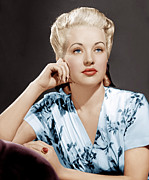 Platinum Blonde Prints - Betty Grable, Ca. 1940s Print by Everett