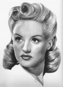 Grable Framed Prints - Betty Grable Framed Print by Karen  Townsend