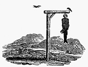 Bewick Prints - Bewick: Hanged Man Print by Granger