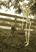 Human Skeleton Art - Beyond the Fence by Betsy A Cutler East Coast Barrier Islands