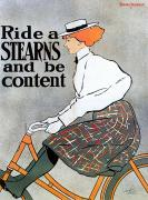 Stearns Framed Prints - Bicycle Poster, 1896 Framed Print by Granger