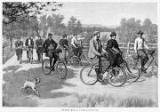 Daily Life Framed Prints - Bicycle Tourists, 1896 Framed Print by Granger