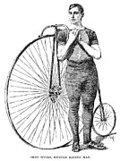 Penny Farthing Framed Prints - Bicycling, 1890 Framed Print by Granger