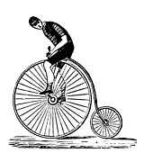 Penny Farthing Prints - Bicycling Print by Granger