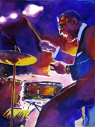Drums Paintings - Big Band Ray by David Lloyd Glover
