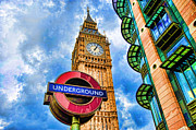 Photo Manipulation Digital Art Posters - Big Ben London Poster by Donald Davis