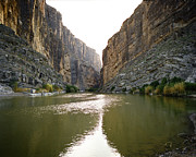River Posters Prints - Big Bend Rio Grand River Print by M K  Miller