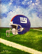Giants Painting Posters - Big Blue Poster by Rich Fotia