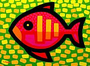Stylised Prints - Big Fish Print by John  Nolan
