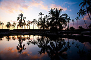 Big Beach Posters - Big Island Sunset Poster by Mike Reid