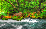 Hdr Photography Pastels - Big Spring  by Jackie Novak