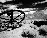 Mining Town Prints - Big Wheel Bodie Print by Jan Faul