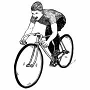 Speed Drawings - Bike Cyclist by Karl Addison