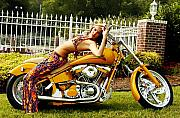 Bruster Photo Prints - Bikes and Babes Print by Clayton Bruster