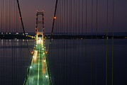 Mackinac Bridge Prints - Billed As The Eighth Wonder Print by Phil Schermeister