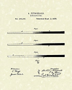 Parlor Posters - Billiard Cue 1879 Patent Art Poster by Prior Art Design