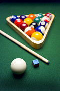 Game Photo Framed Prints - Billiards Framed Print by Tony Cordoza